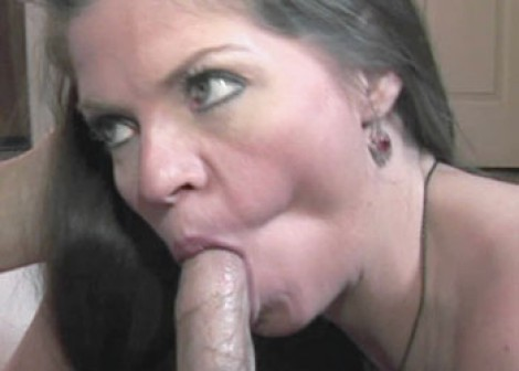 Mature slut June gets a creampie
