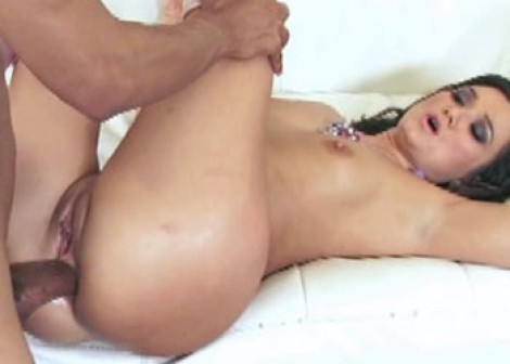 Brunette slut CeCe gets fucked in the ass