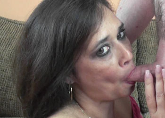 Cum mature blowjob