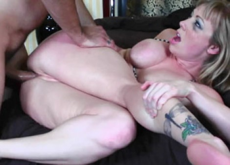 Blonde Adrianna gets fucked in the ass