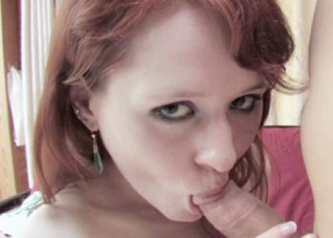 Redhead coed Ivy fucks for cash
